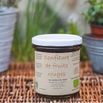 Confiture bio de fruits rouges