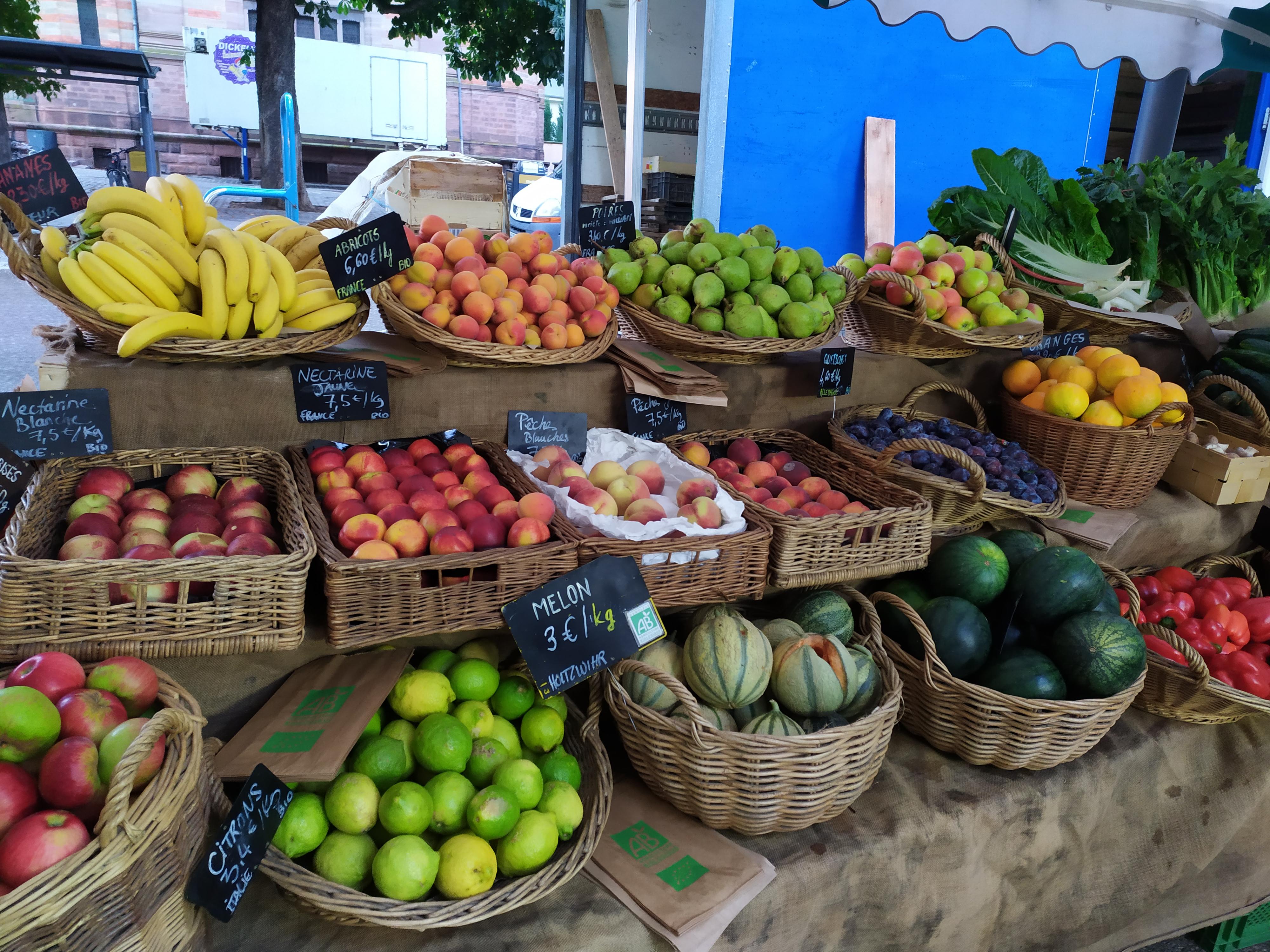 Fruits et légumes bio Colmar